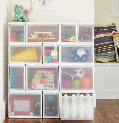 short wide modular drawer
