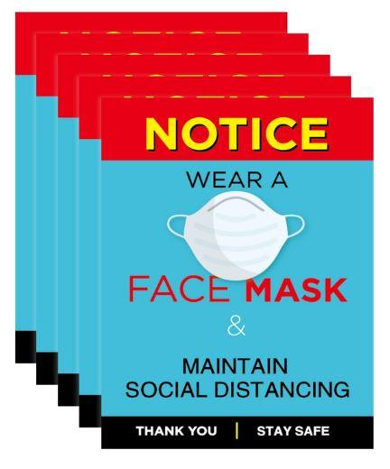 face mask reminder signs