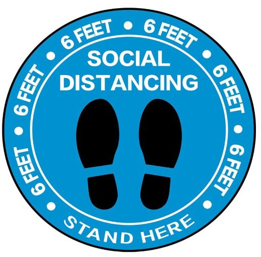 social distancing floor decals